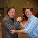 Arm-wrestling Mr. Belding aka Dennis Haskins