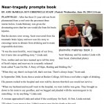 Near-tragedy prompts book